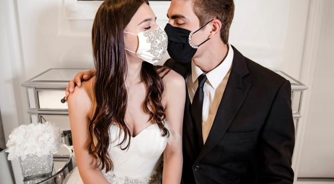 愛在瘟疫蔓延時的婚禮口罩