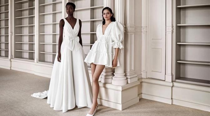 Viktor and rolf 2021春季婚紗系列的簡約復古典雅
