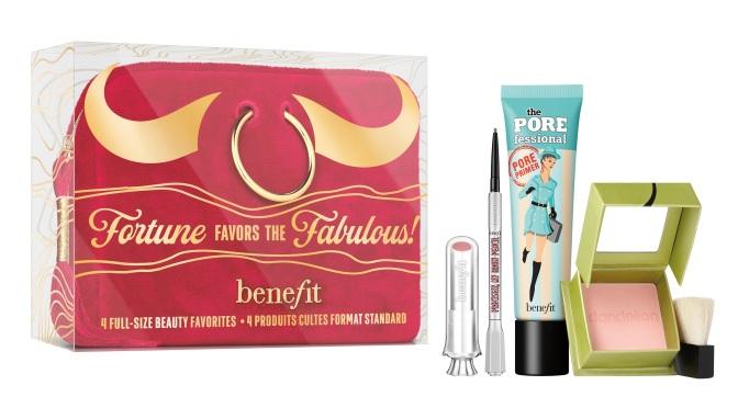 【新年情人節限量版】Benefit Cosmetics牛年限量版美妝套裝締造甜美桃花妝粉嫩氣色好運來