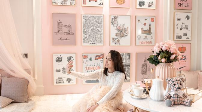 香港朗廷酒店【漫遊倫敦打卡粉紅下午茶室】