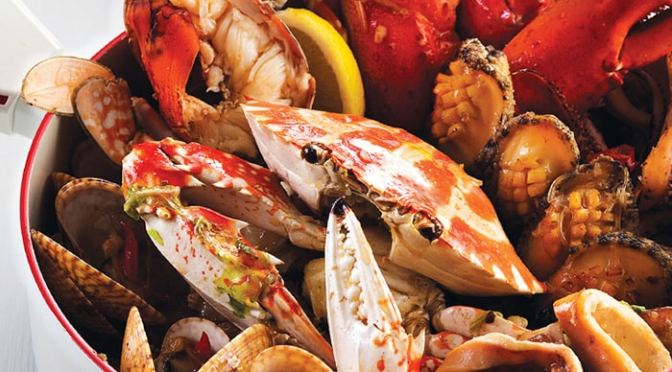 手殘廚房: 無水煮龍蝦花蟹海鮮鍋
